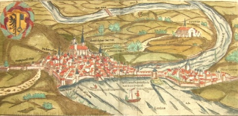 Genève, gravure sur bois de Nicolas Munster vers 1600 (Coll. part)