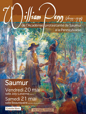Affiche  de l'exposition William Penn a Saumur