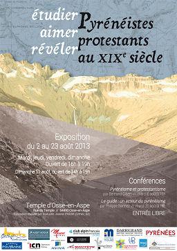 Affiche d'une exposition sur les Pyrénéistes protestants au XIXe