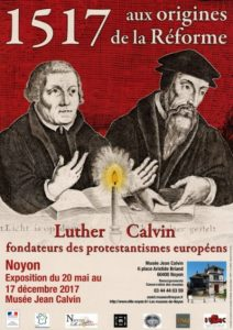 Affiche de l'exposition aux origines de la Reforme