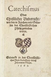 Couverture du Catéchisme de Heidelberg