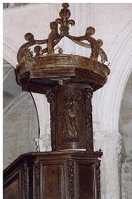 Chaire du temple de Blécourt