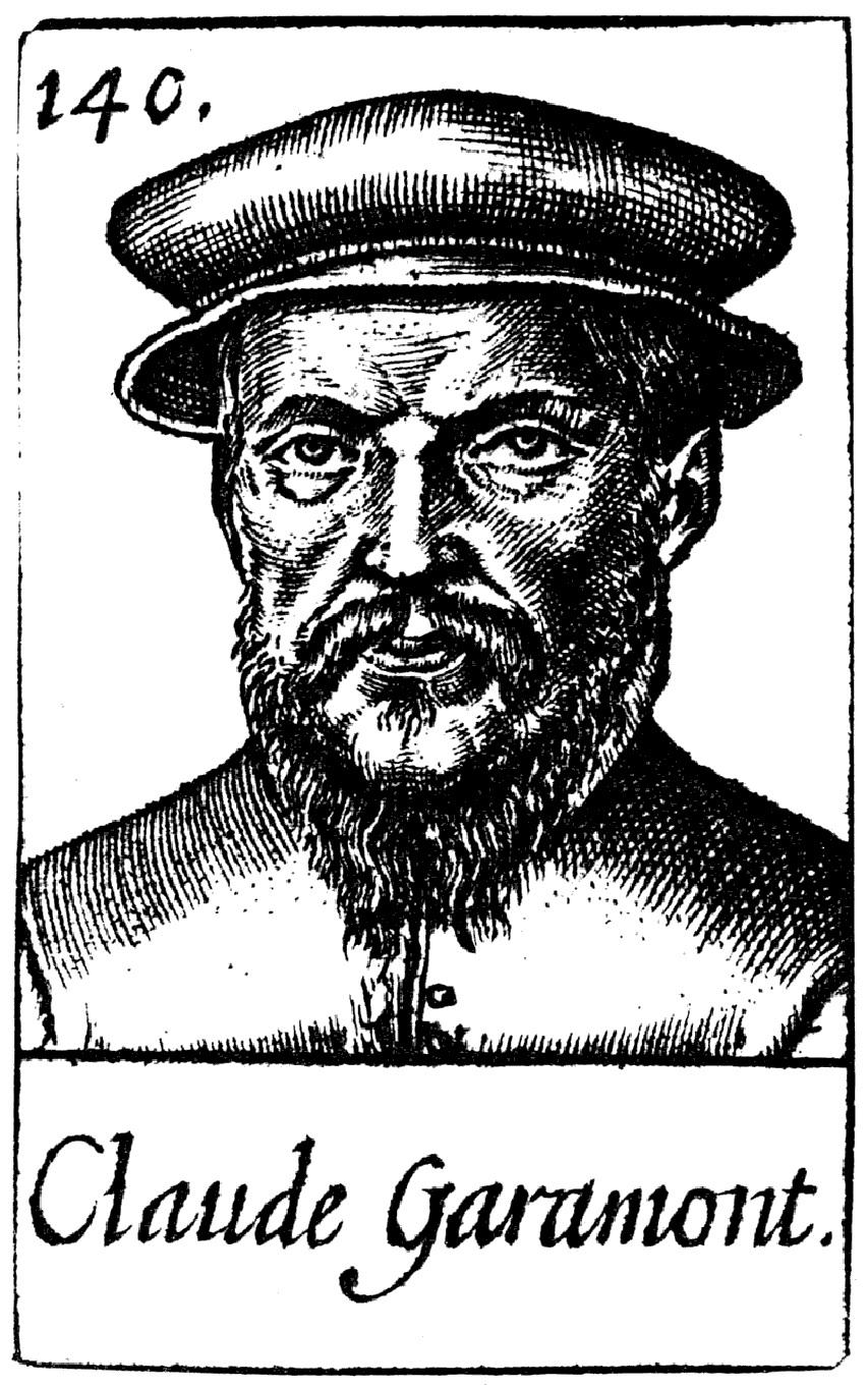 Portrait gravure de Claude Garamont