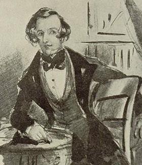 portrait de Dickens par Phyz 1837