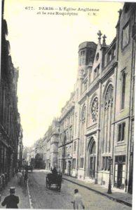 Carte-postale de la chapelle méthodiste de la rue Roquépine.