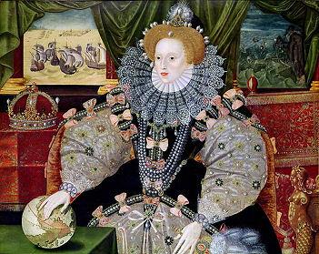 Peinture représentant Elizabeth I