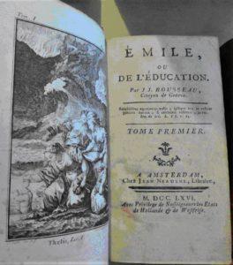 Page de garde du livre de JJ Rousseau : Emile
