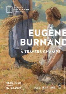 Affiche de l'exposition Eugène Burnand A travers champs