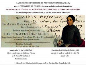 affiche annonce de l'exposition Fortunato de Felice