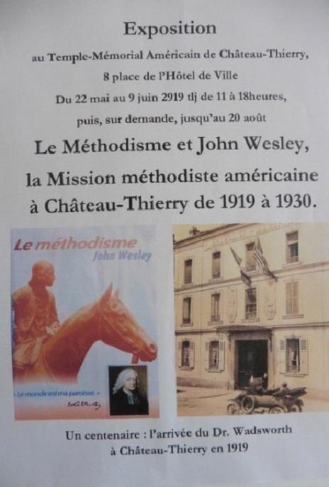 Affiche de l'exposition sur les Methodistes