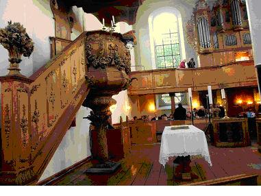 Photo de l'intérieur de l'église réformée