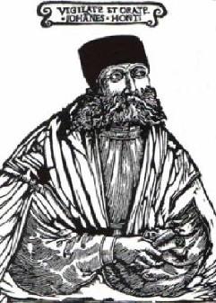 gravure représentrant Johannes Honterus