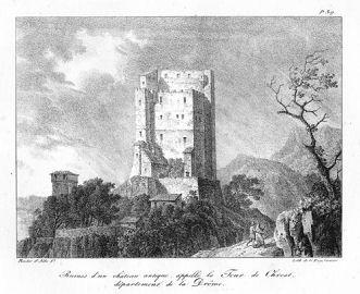 lithographie de la Tour de Crest