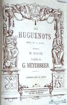 Affiche de la représentation des Huguenots