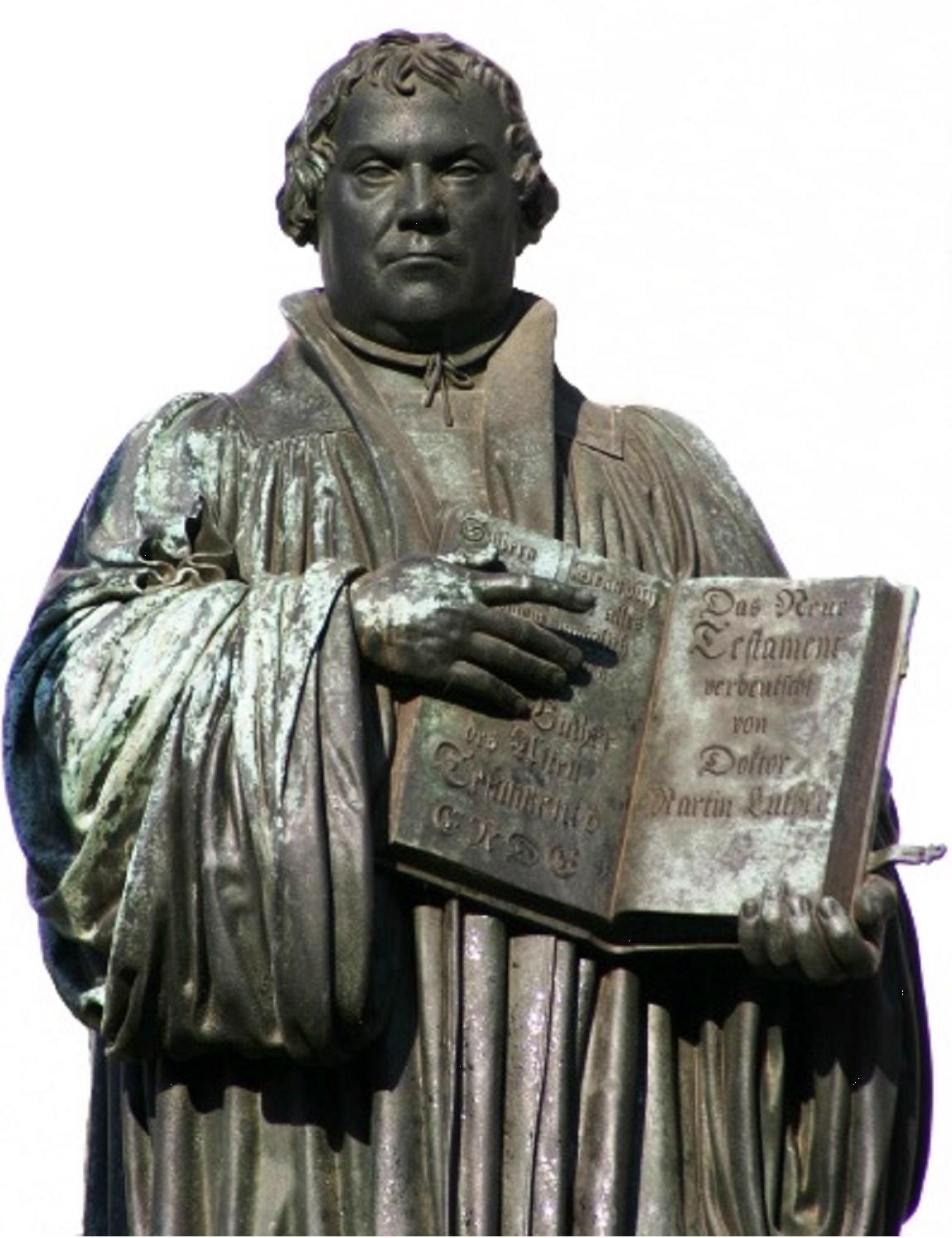Statue de Martin Luther à Wittenberg
