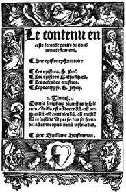 Lefèvre d'Etaples Nouveau Testament en 1524