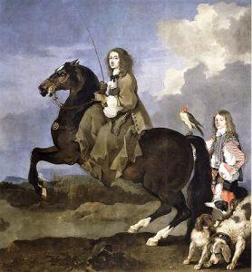 Portrait équestre de Christine de Suède