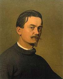 Autoportrait de Félix Valloton à la fondatio Félix Valloton à Lausanne