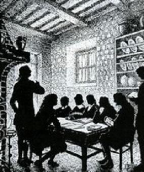 gravure du premier synode du Désert