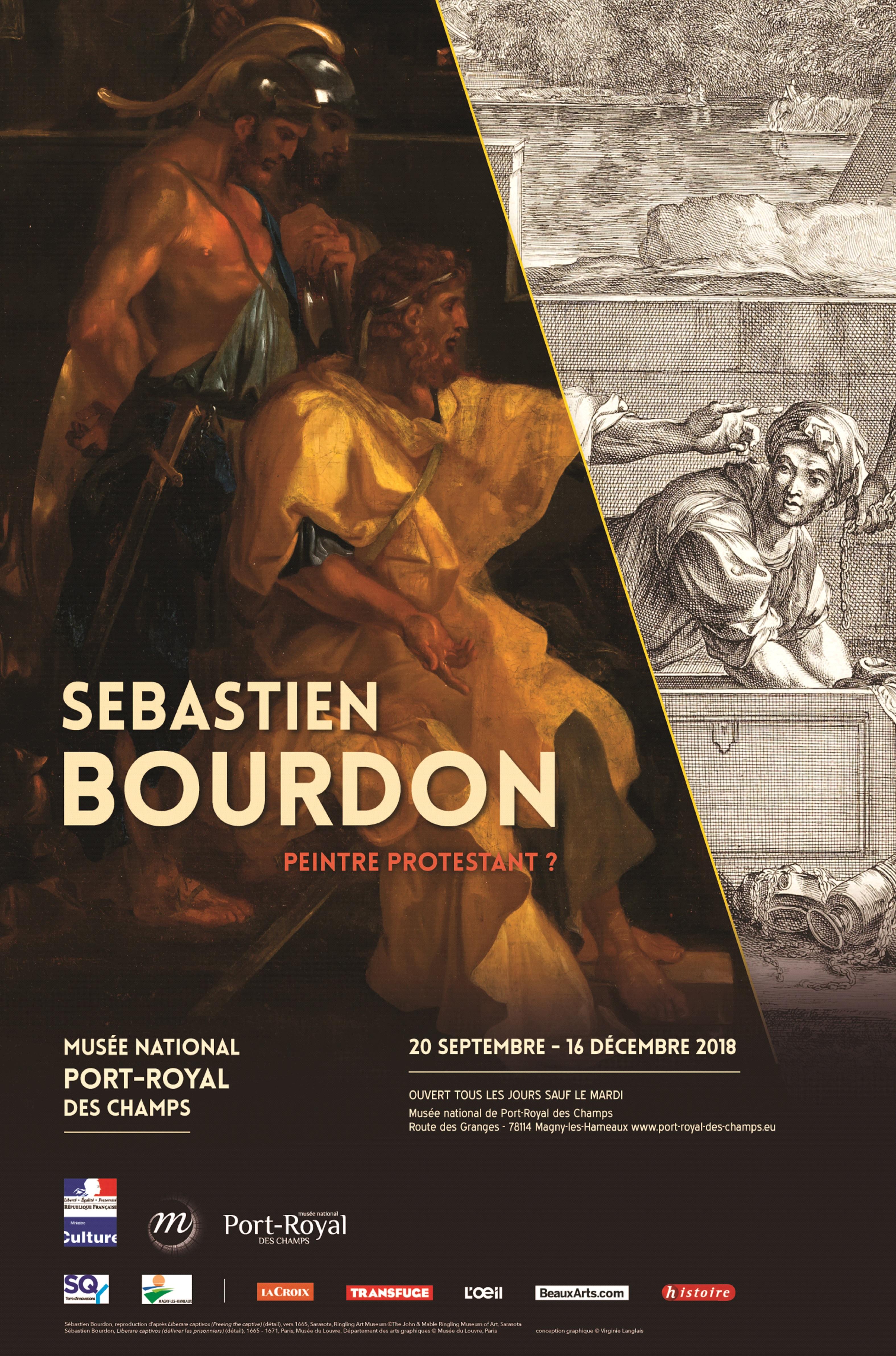 Affiche de l'ex^position Sébastien Bourdon