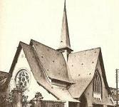 carte postale du temple de Lavallois en 1912