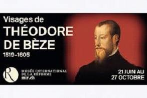 Affiche de l(exposition : Visages de Th de Bèze