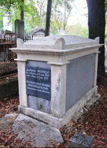 Photo de la tombe du pasteur Jean-Frédéric Mestrezat au Père Lachaise