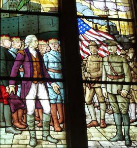 Un vitrail de l'église américaine