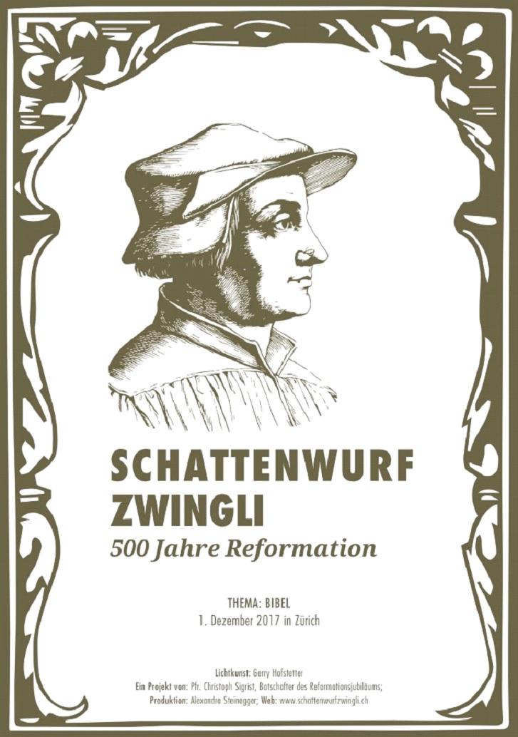 Affiche 500eme anniversaire de la Réforme de Zwingli