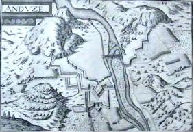 carte d'Anduze de 1638
