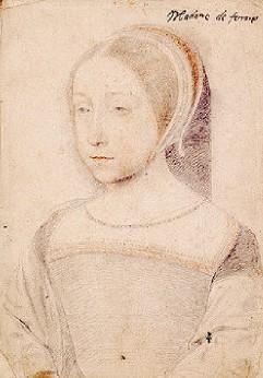 dessin de Renée de France par Clouet (Musée Condé, Chantilly)