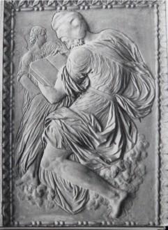 "bas relief de Goujon ""l'évangéliste"""