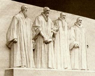 Maquette du groupe central du mur de la Réformation