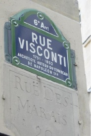 plaque de la rue Visconti